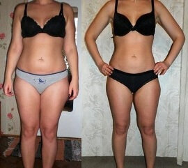 Before and after use 2 Slim Chocolate